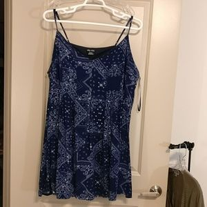 City chic XXL/24 bandana print strappy dress